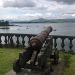 A cannon overlooking the bay