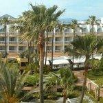 Panoramablick vom Hotelzimmer
