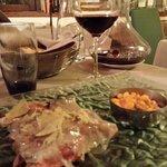 Tagliata con lardo e tartufo accompagnata da fagioli...eccezionale