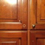 broken cupboard