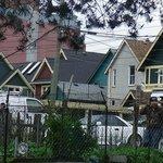 Skyline of Vancouver's Strathcona neighborhood