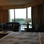 Room is of good size with view to the river