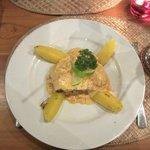 Fish dinner with potato