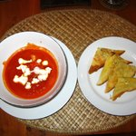 Tomato Soup with garlic toast
