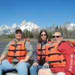 The 3 of us with Tetons and Snake River as a back drop