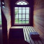 The private sauna in room 404