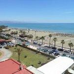 Vista de la fantástica playa desde la habitación