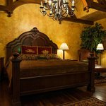 King Sized bed with royal decor