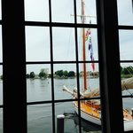 View from inside one of the buildings at Chesapeake Bay Maritime Museum