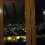 Night view through the windows