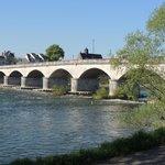 Lovely bridges over the Loire river