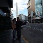 Na avenida do hotel!