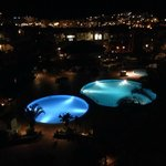 pool at night from are room
