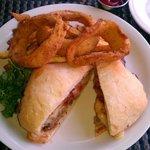 The Meat Loaf Sandwich was huge.