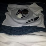 Chocolate torte via room service!