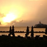 a typical sunset at Four Seasons Nevis