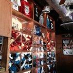 Ricky T's souvenir shirt inventory.