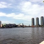 chao phraya river, view from the hotel