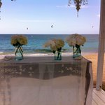 Wedding in front beach