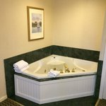 Hot tub in room