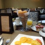 mi selección de desayuno,  el menú es Frances y muy variado