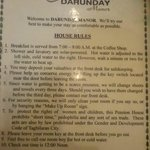 Would like all hotels to follow Darunday Manor rules
