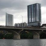 Congress Bridge with people waiting