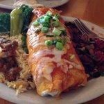 Huge veggie burrito