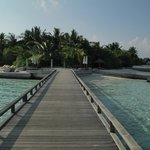 pathway from water Villa to island