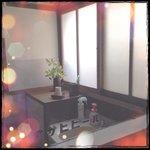 レトロで清潔感ある洗面台