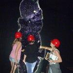 A giant amethyst