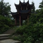 A nice pagoda near the right hand of the river