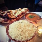 Lamb vindaloo, garlic naan and basmati rice!