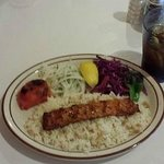 Ground Chicken Kabab with vegetables
