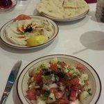 Shepherd Salad, Hummus