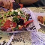 Seafood nachos & alligator cheesecake