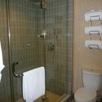 Bathroom, no tub just shower...which I prefer