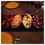 Grapes & Goat Cheese, Strawberry Jam & Brie, Chicken & Mushrooms, and Candied Bacon & Fontina Br