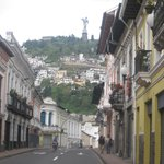 Old town streets leading to El Panecillo