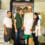 with hotel staffs