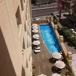 A view of the pool from the 8th floor