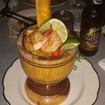 Shrimp mofongo yummmm