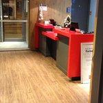The hotel lobby / entrance / receiption area