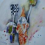 aquarelle carnaval