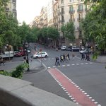 The view of Rambla Catalunya from 1st floor apartment
