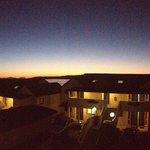 Evening sunset over Baycrest Lodge