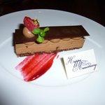 Happy Anniversary mousse cake