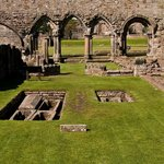 12th Century medieval St. Andrews Cathedral in Fife Scotland