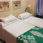 La camera da letto (a sinistra c'era un ampio armadio ...)