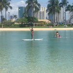 Stand up paddle boarding at the lagoon